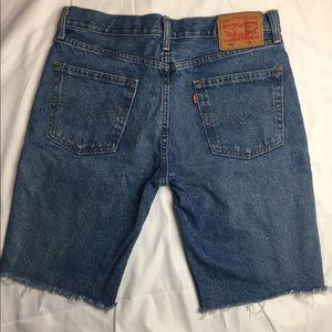 Ragged edge Levi's 511 Cut Off Jeans W32